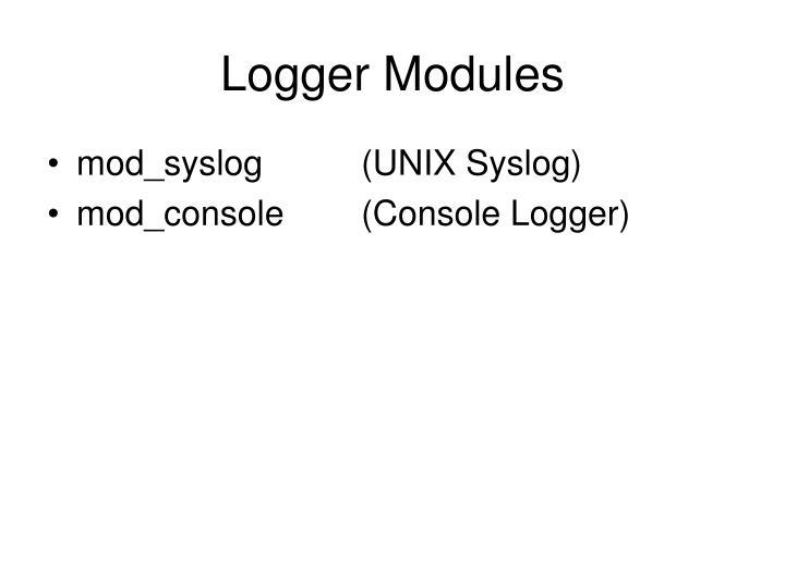 Logger Modules