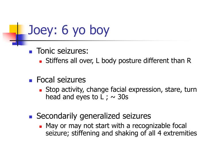 Joey: 6 yo boy
