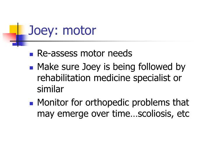 Joey: motor