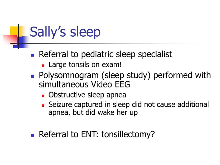 Sally's sleep
