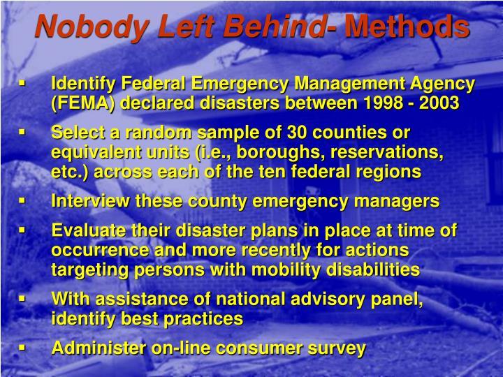 Nobody Left Behind-