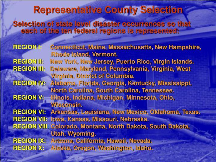 Representative County Selection