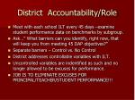 district accountability role