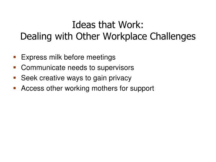 Ideas that Work: