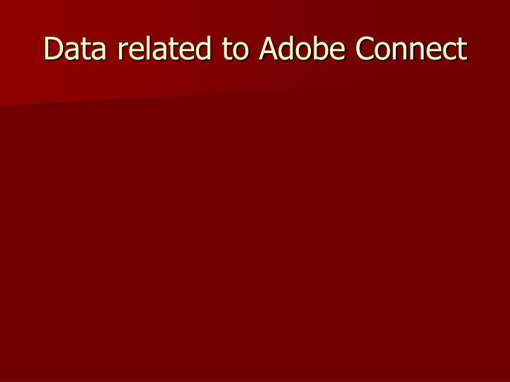Data related to Adobe Connect