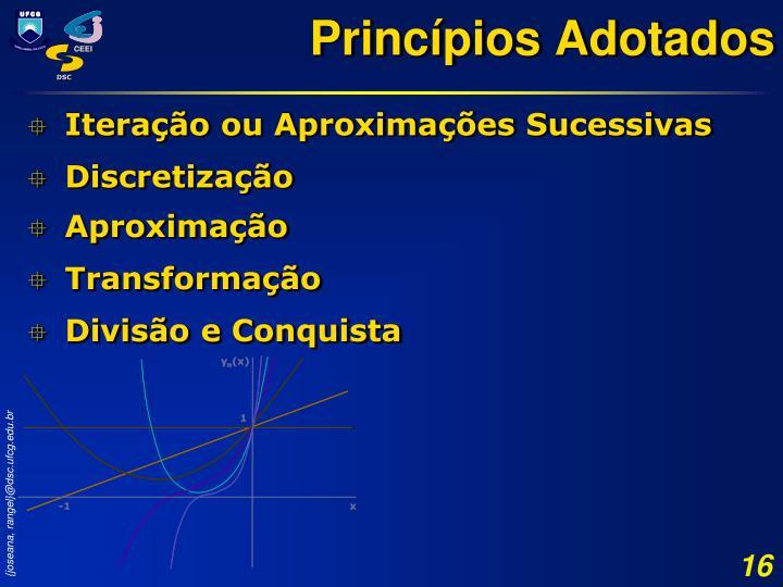 Princípios Adotados