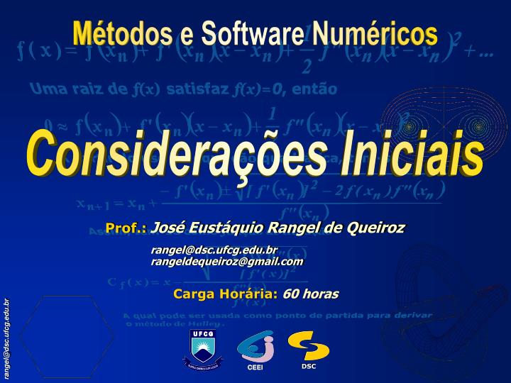 Métodos e Software Numéricos