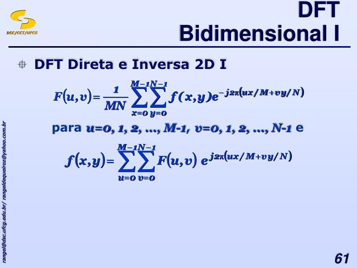 DFT Bidimensional I