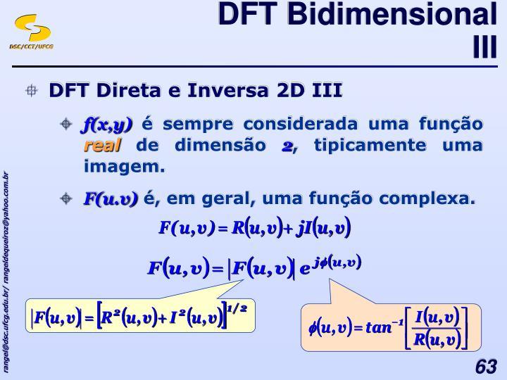 DFT Bidimensional III
