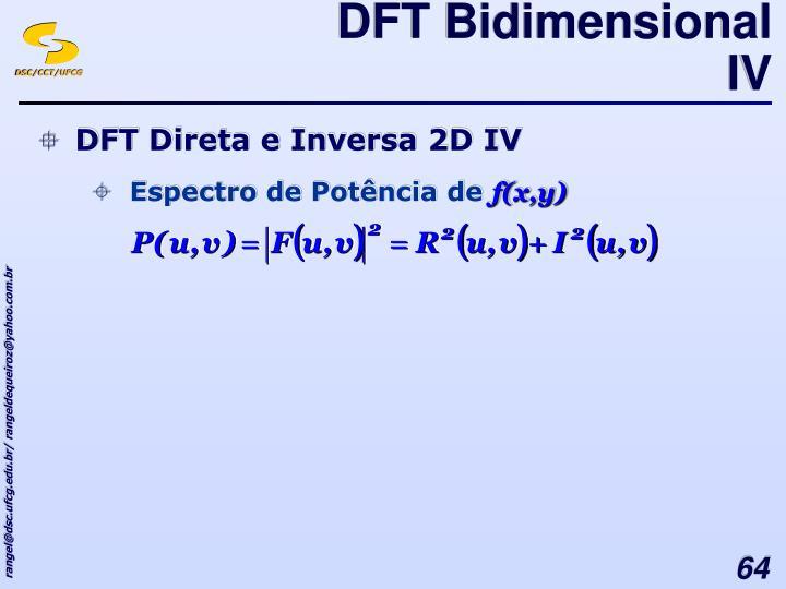 DFT Bidimensional IV