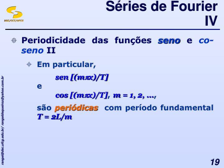 Séries de Fourier IV