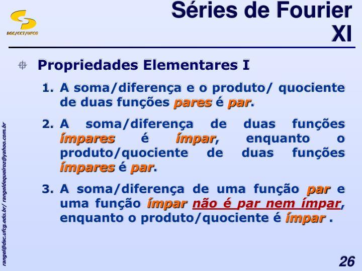 Séries de Fourier XI
