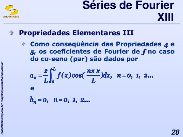 Séries de Fourier XIII