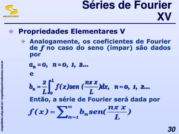 Séries de Fourier XV
