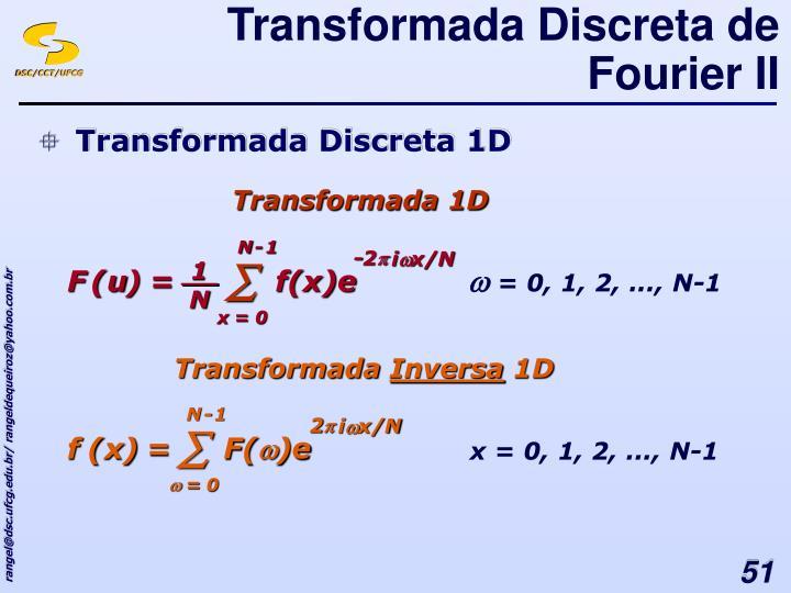 Transformada Discreta de Fourier II