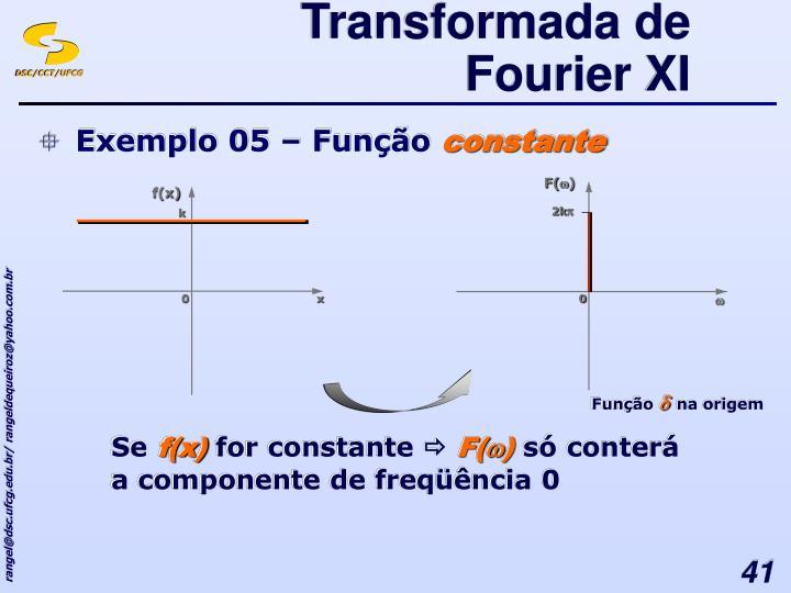 Transformada de Fourier XI