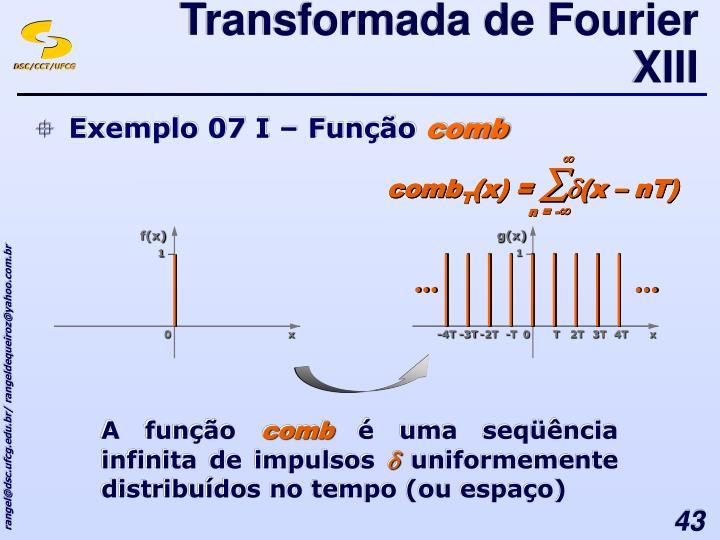 Transformada de Fourier XIII