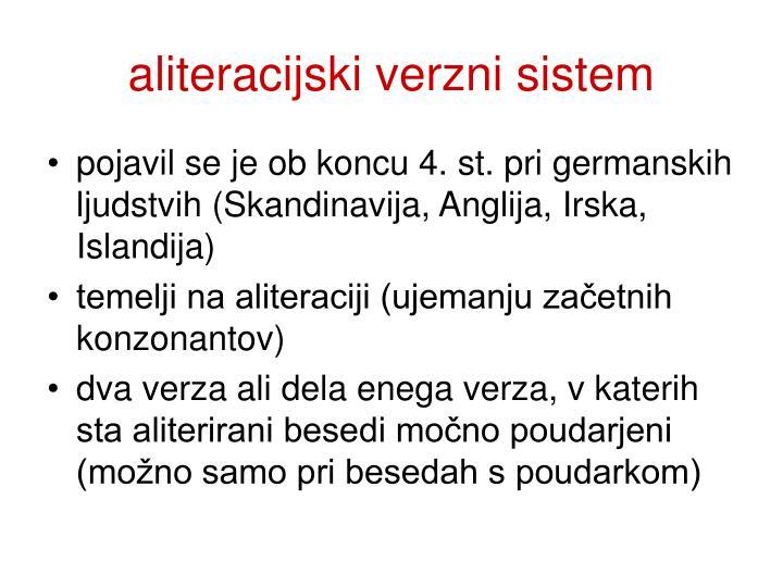 aliteracijski verzni sistem