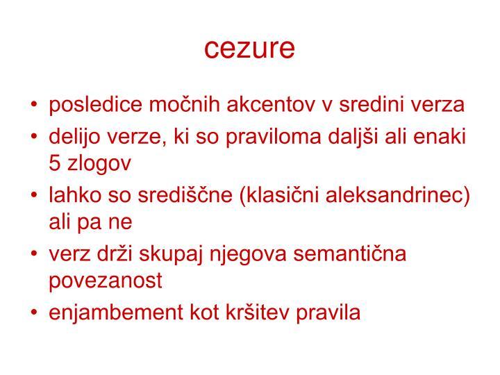 cezure