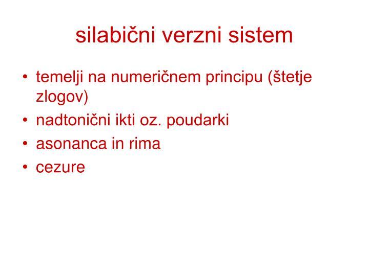 silabični verzni sistem