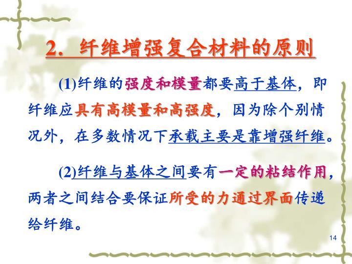 2.纤维增强复合材料的原则