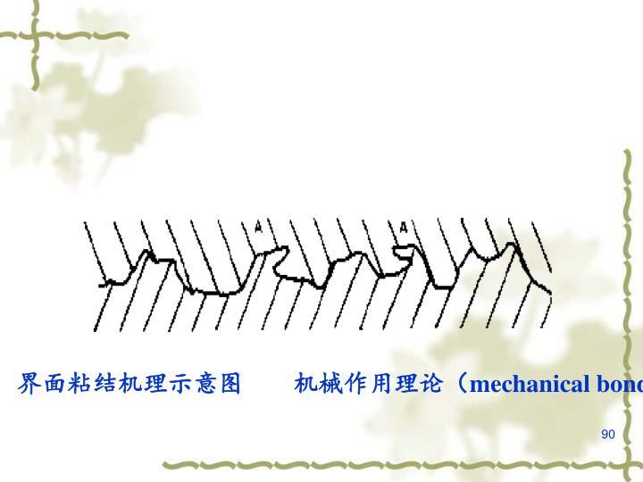 界面粘结机理示意图  机械作用理论(