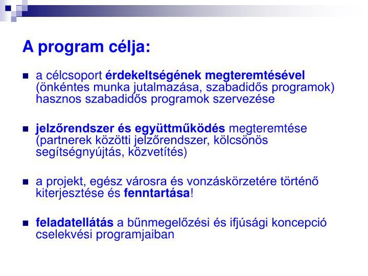 A program célja: