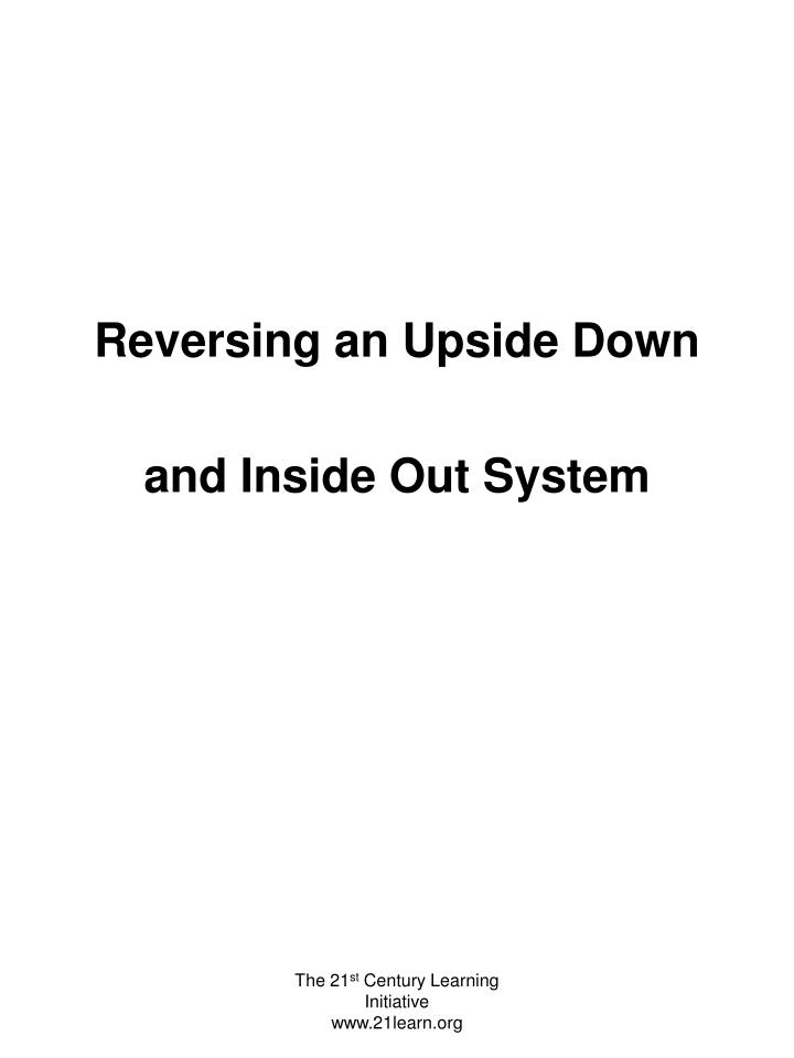 Reversing an Upside Down