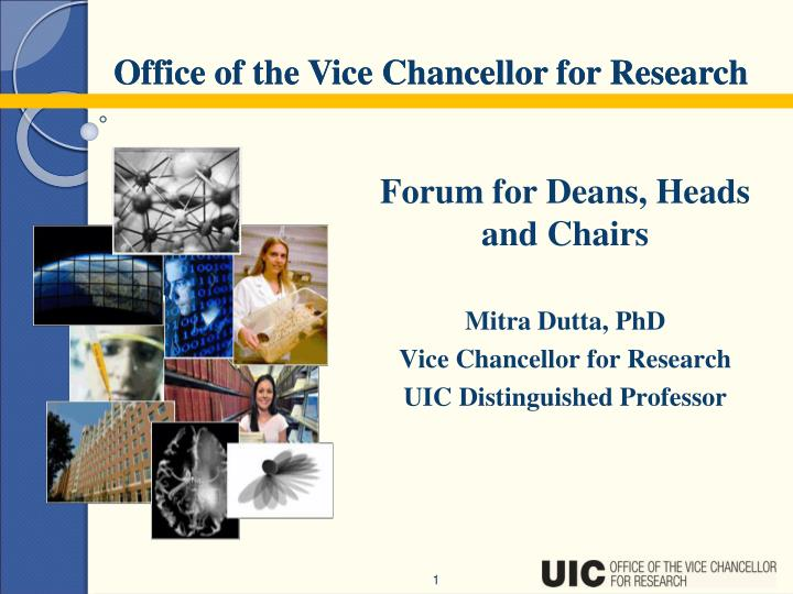 Forum for Deans, Heads and Chairs