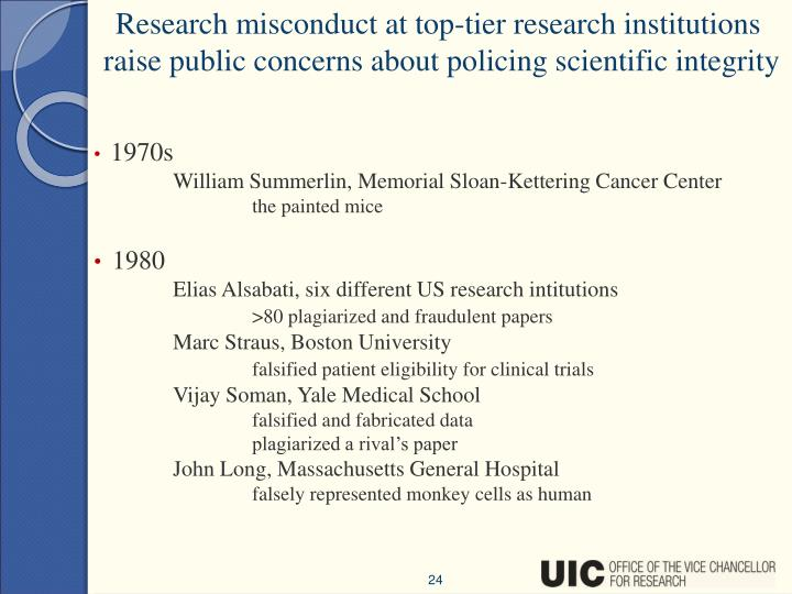 Research misconduct at top-tier research institutions