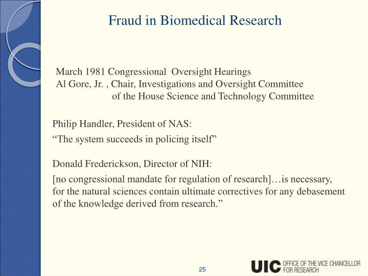 Fraud in Biomedical Research