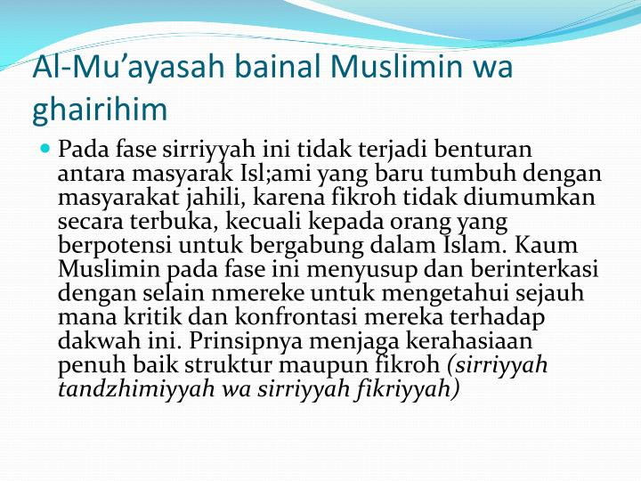 Al-Mu'ayasah bainal Muslimin wa ghairihim