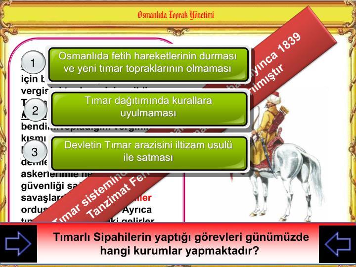 Osmanlıda fetih hareketlerinin durması ve yeni tımar topraklarının olmaması