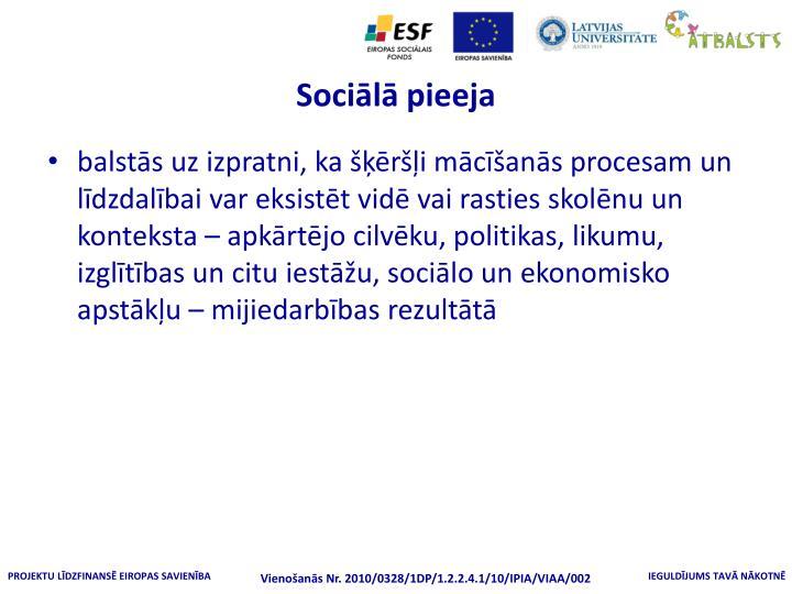 Sociālā pieeja