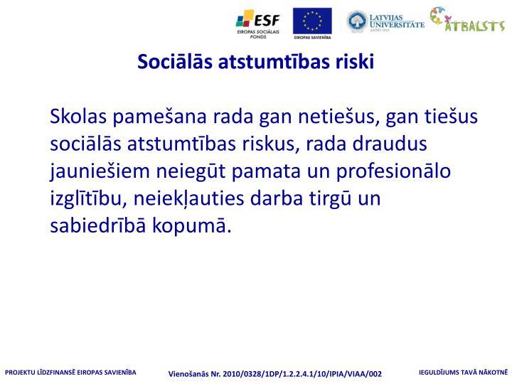 Sociālās atstumtības riski