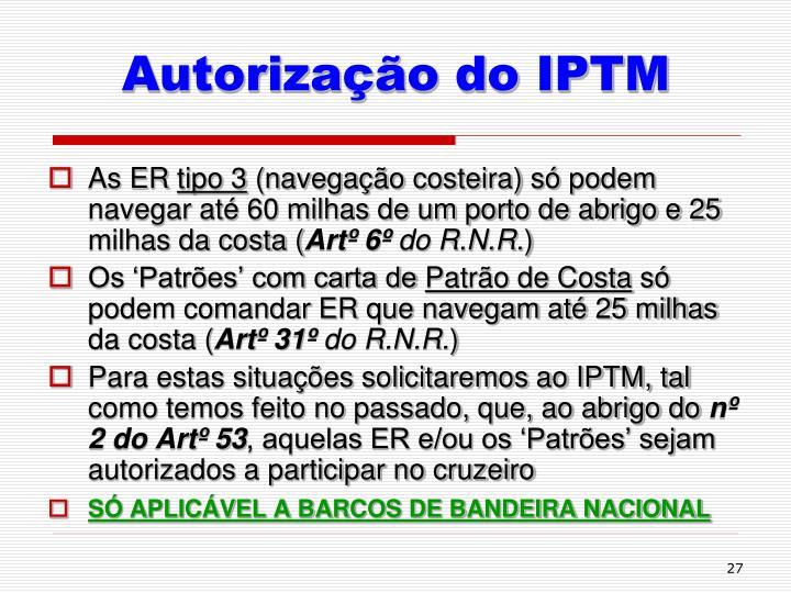 Autorização do IPTM