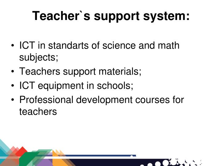 Teacher`s support system: