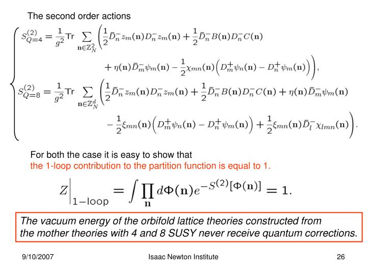 The second order actions