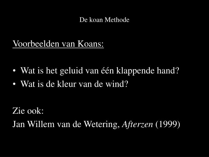 De koan Methode