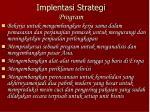 implentasi strategi program
