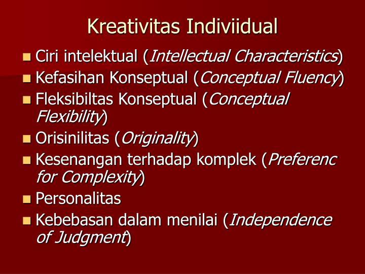 Kreativitas Indiviidual