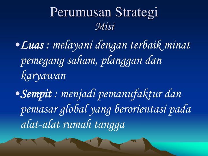 Perumusan Strategi