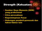 strength kekuatan