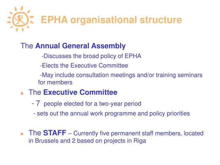 EPHA organisational structure