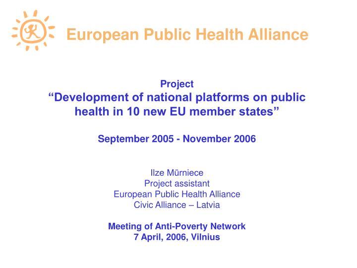 European Public Health Alliance