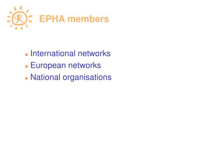 EPHA members
