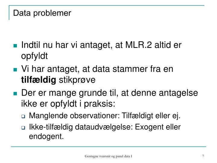 Data problemer