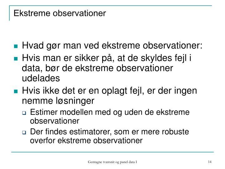 Ekstreme observationer