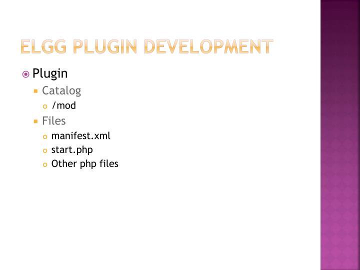 ELGG Plugin development
