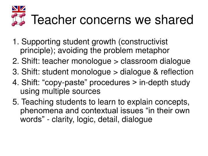 Teacher concerns we shared